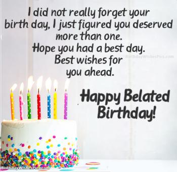 belated wishes images