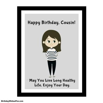 birthday card for cousin template