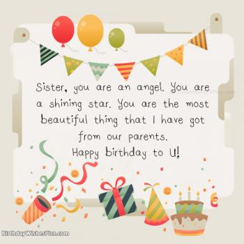 birthday images for sister with name