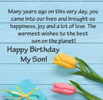 birthday images for son