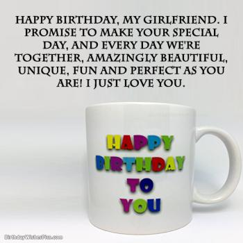 birthday message for girlfriend pics