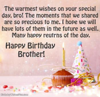 birthday messages for brother images