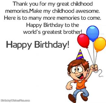 Happy birthday wishes for brother very first best friend birthday wishes for brother m4hsunfo