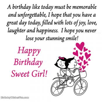 birthday wishes for girls
