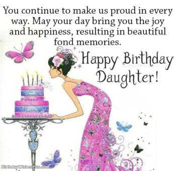 birthday wishes images for daughter