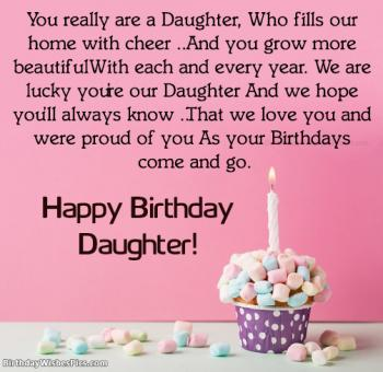 happy birthday daughter images with wishes