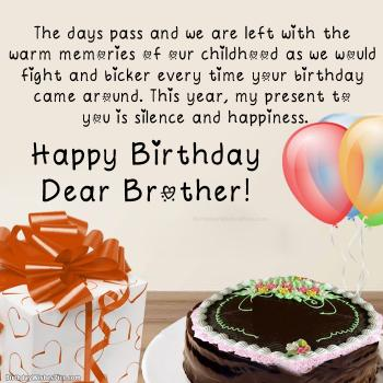 happy birthday dear brother pics