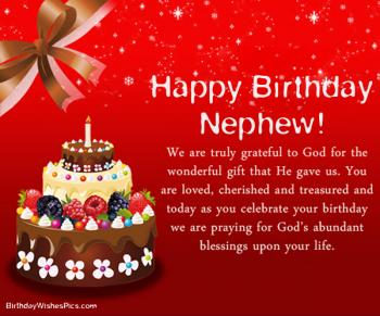happy birthday nephew wishes