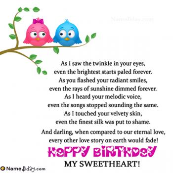 Happy Birthday Sweetheart