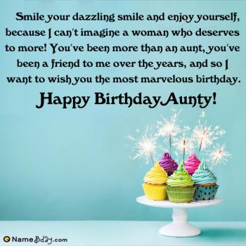 happy birthday wishes for aunty