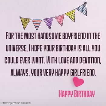 Happy Birthday Wishes For Boyfriend Romantic Images