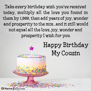 happy birthday wishes for cousin