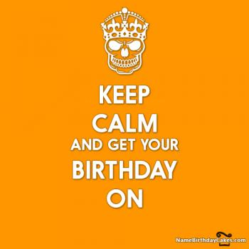 keep calm birthday images