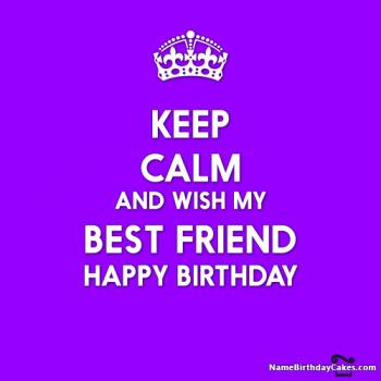 keep calm birthday my friend