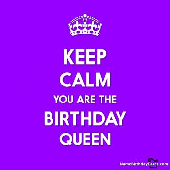 keep calm birthday queen