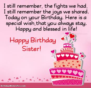 sister birthday images with wishes