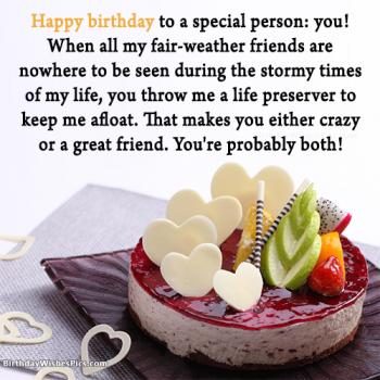 special friend birthday wishes
